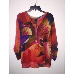 covington floral blouse